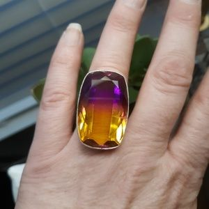 New Ametrine Silver Ring. Size 8